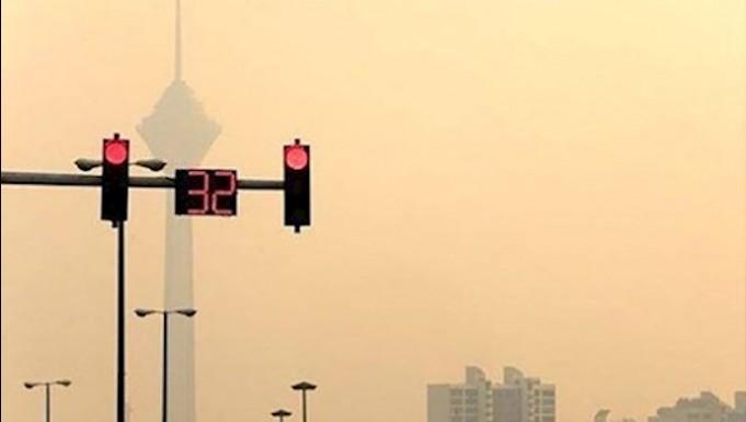 آلودگی هوا در تهران فراتر از قرمز به