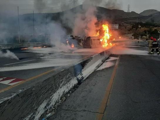 3 کشته بر اثر واژگونی تانکر سوخت