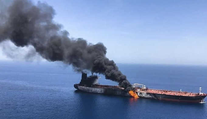 انفجار کشتی تجاری