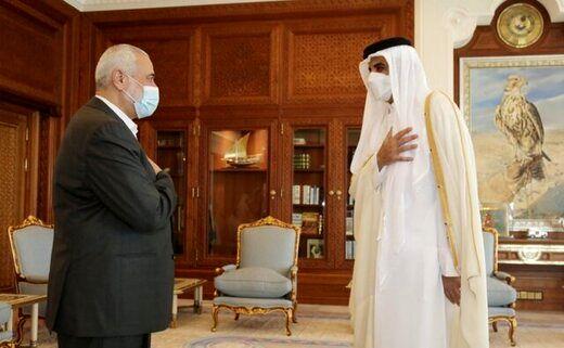 امیر قطر با رئیس دفتر سیاسی حماس